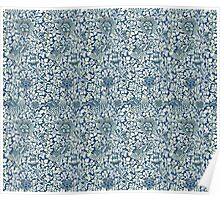 Indigo Blue and White William Morris Pattern Poster