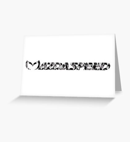 Mazdaspeed Digital Camo Greeting Card