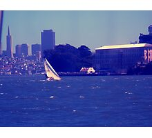 sailing on san francisco bay Photographic Print