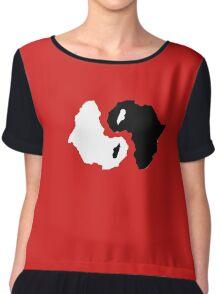 Africa ying yang Chiffon Top