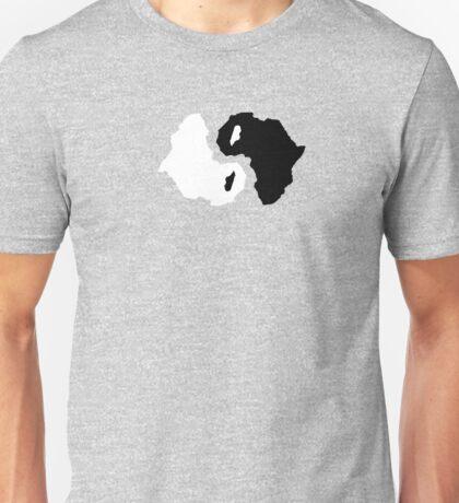 Africa ying yang Unisex T-Shirt