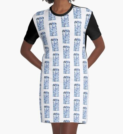 Floral Tardis Graphic T-Shirt Dress