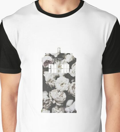 Floral Tardis Graphic T-Shirt
