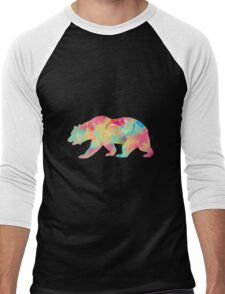 Abstract Bear Men's Baseball ¾ T-Shirt