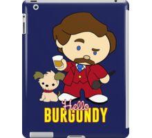 Hello Burgundy (with titles) iPad Case/Skin