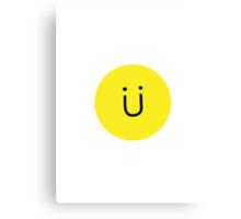Jack U (Skrillex + Diplo) Smiley Face Canvas Print