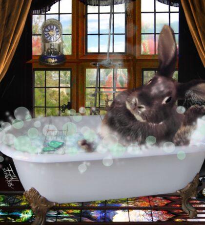 Bunny Bubble Bath Sticker