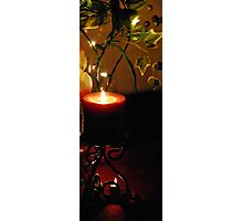 Burgandy Candlelight Glow Photographic Print