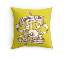Penny & Yollo - Party Entertainers Throw Pillow