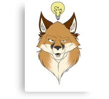 Fox Face White Canvas Print