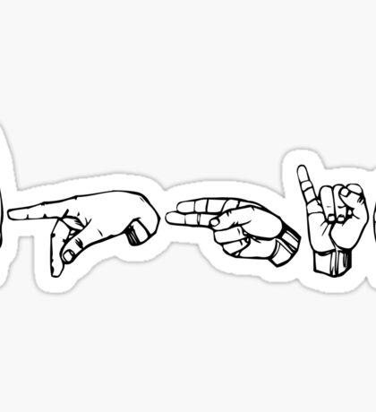 DPhiE ASL Delta Phi Epsilon ΔΦΕ Sticker