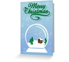 Snow Globe Greeting Card