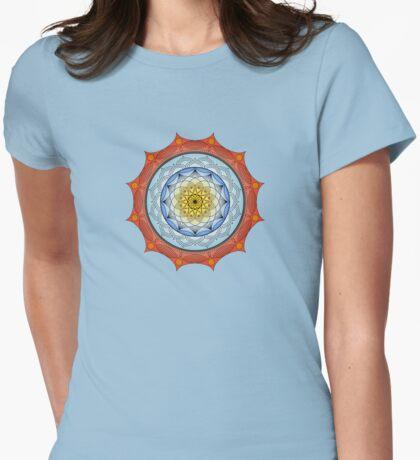 World On Fire Mandala Womens Fitted T-Shirt
