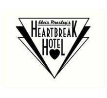 Elvis Presley's Heartbreak Hotel Art Print