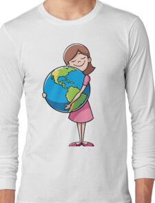 Child and Earth Long Sleeve T-Shirt