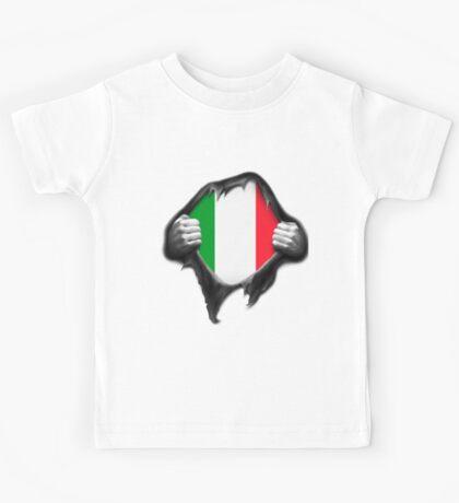 Italy Flag. Proud Italian Kids Tee
