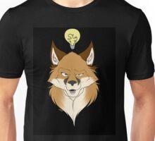 Fox Face Black Unisex T-Shirt