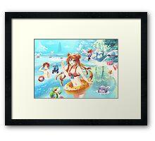 Pokemon holiday Framed Print