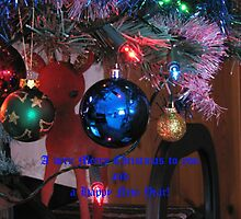 Christmas Tree Ornaments Greeting Card (for all my RB friends) by kathrynsgallery