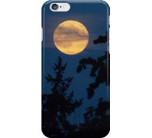 Moon Rising Above the Trees iPhone Case/Skin