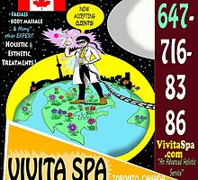 Vivita Spa, Toronto, Canada, Commercial Advert Artwork by TexWatt