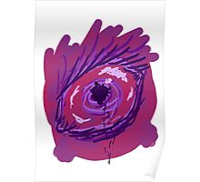 Creepy Black Bleed Eye Poster
