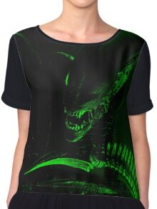 The Xenomorph Chiffon Top