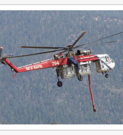 Cal- Fire Helicopter Sawtooth Fire Sticker