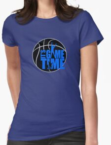 It's Game Time - Blue Womens Fitted T-Shirt