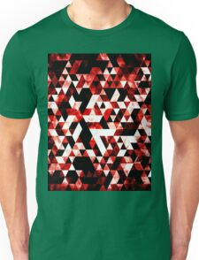 Triangle Geometric Vibrant Red Smoky Galaxy Unisex T-Shirt