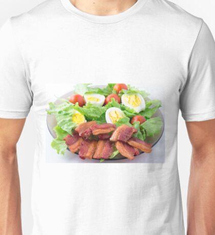 Shredded lettuce, cherry tomatoes, bacon and boiled eggs Unisex T-Shirt