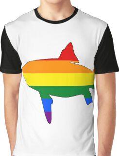 Rainbow Shark Graphic T-Shirt