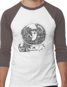 Ellen Ripley Pencil Portrait (Graphic T-shirt) Men's Baseball ¾ T-Shirt