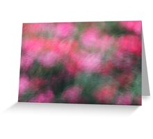 Pink Blossoms in Motion Greeting Card
