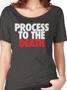 Process To The Death (White/Red) Women's Relaxed Fit T-Shirt