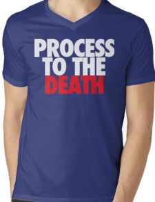 Process To The Death (White/Red) Mens V-Neck T-Shirt