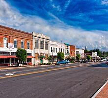 Main Street In Montezuma Georgia by Mark Tisdale