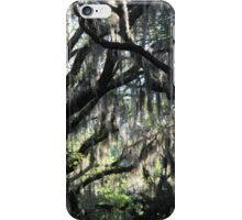 spanish moss on live oaks iPhone Case/Skin