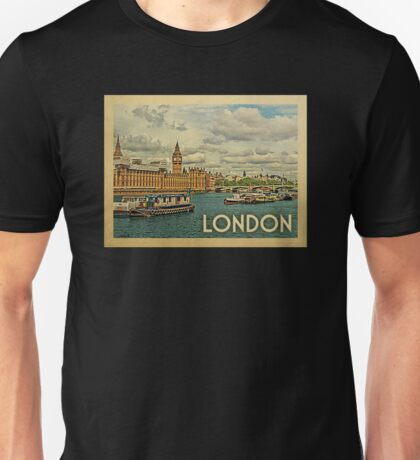 London UK Vintage Travel T-shirt Unisex T-Shirt