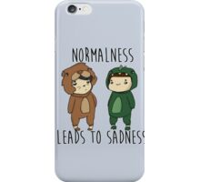 Normalness leads to sadness- Danosaur and Phillion iPhone Case/Skin