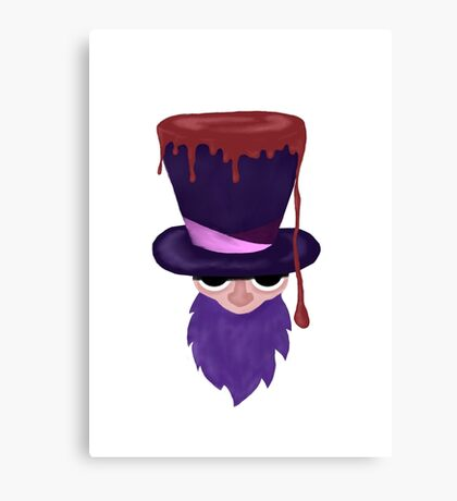 old purple wizard Canvas Print