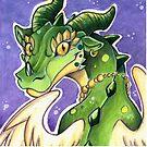 Cute Green Dragon  by cybercat