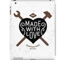 Made With Love iPad Case/Skin