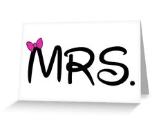 Mr. & Mrs. Couples Design Greeting Card