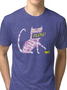 Now Cat Tri-blend T-Shirt