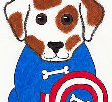 Puppy Dog America - Animal Superhero by misadventureart