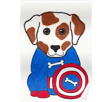 Puppy Dog America - Animal Superhero Poster