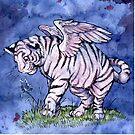Winged Tiger Cub  by cybercat