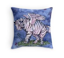 Winged Tiger Cub  Throw Pillow