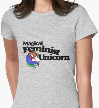Magical Feminist Unicorn Womens Fitted T-Shirt